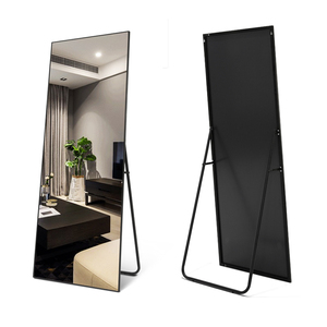 Aluminum Frame Standing Full Length Mirror Living Room Framed Floor Dressing Mirror