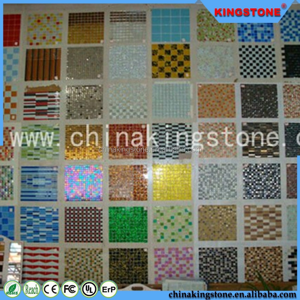2016 new product Mixed Color square shape Crystal glass mosaic tile