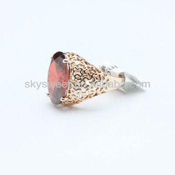 Free Sample Fashionable Cheap Disco Ball Ring Hot Sale Big Red