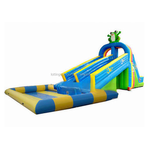 outdoor/indoor giant inflatable water park water slide with pool