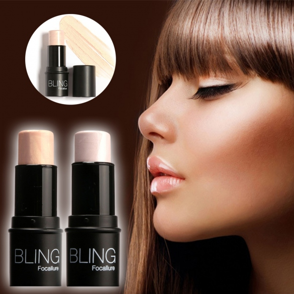 Highlighter Stick Shimmer Powder Cream Shadow Highlighting Waterproof Face Eyes Makeup <strong>Cosmetics</strong> Silver Gold