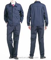 2016 OEM wholesale man garage overall uniforms long sleeve workwear