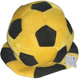 Novelty black and yellow football fans hat for adult