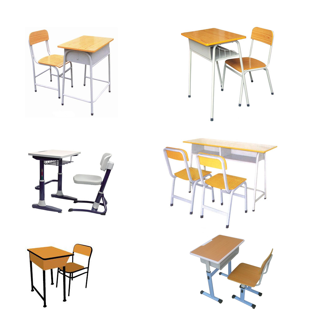 Children Adjustable Height Study Writing Desk/adjustable Wood Top Study  Table And Chair Set With