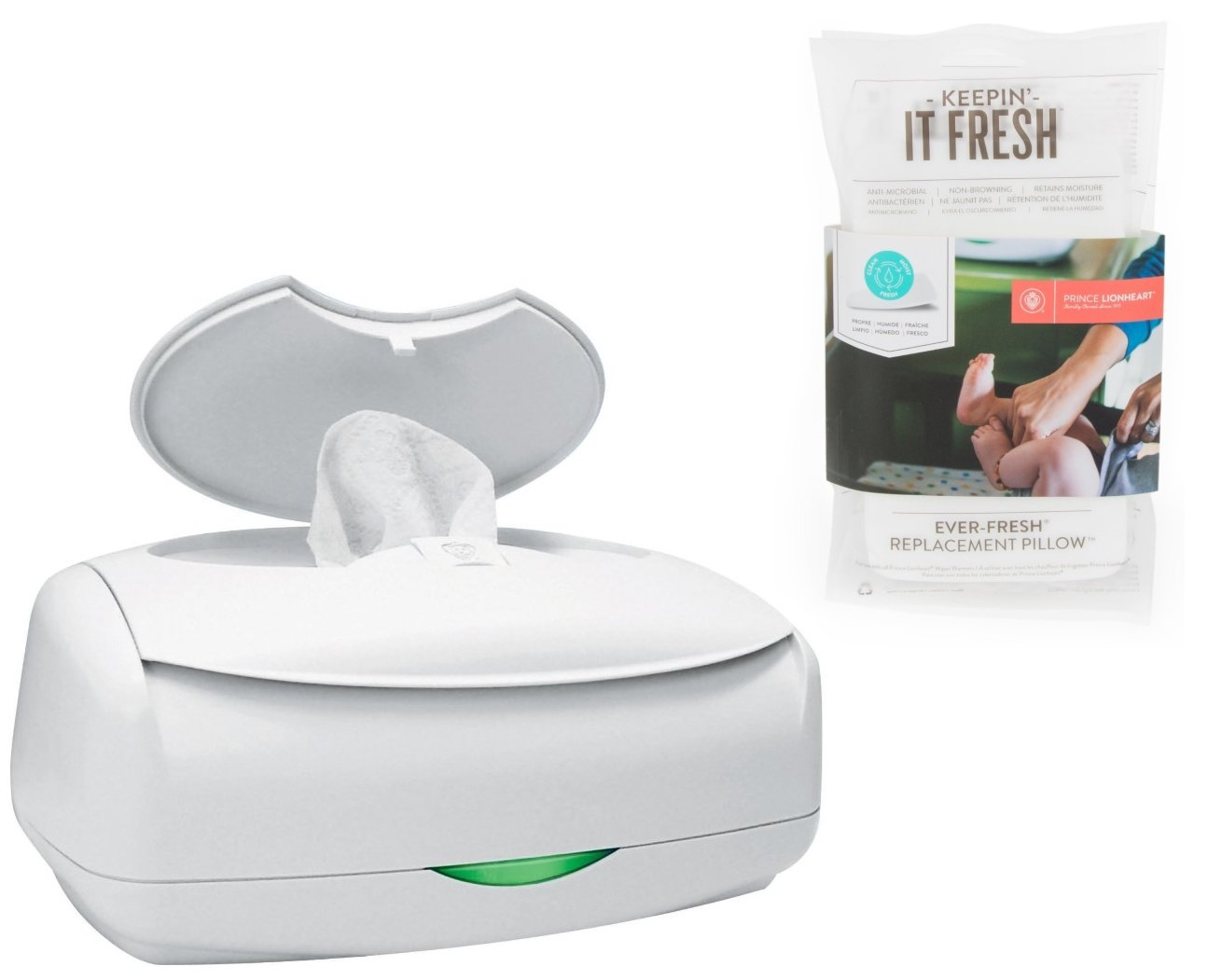 Prince Lionheart Ultimate Wipes Warmer & Replacement Pillows