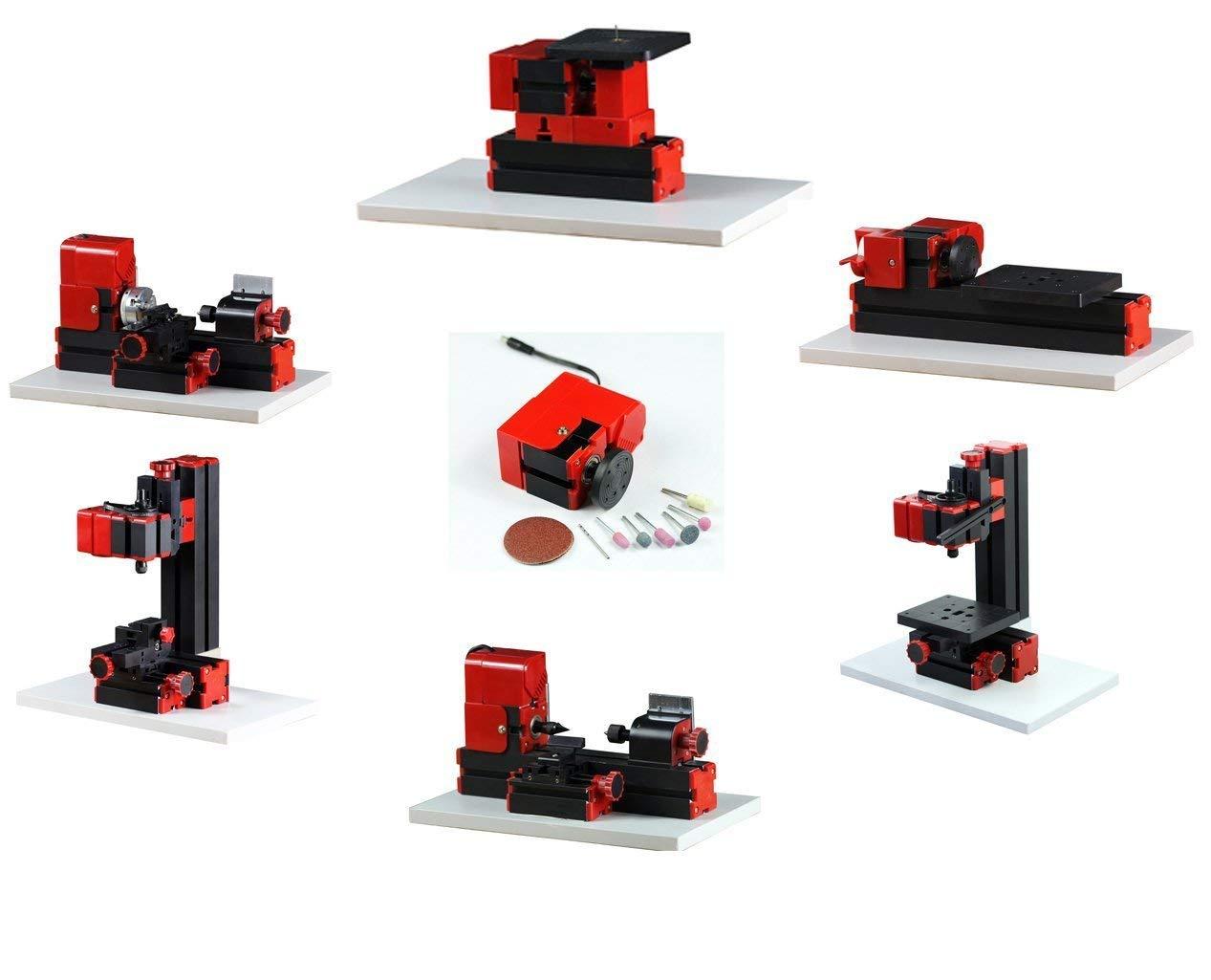 Mini Multipurpose Machine 6 In 1 Kit Wood Soft Metal Woodworking DIY Tool Lathe Machine Kit For Hobby Amateur Model Maker