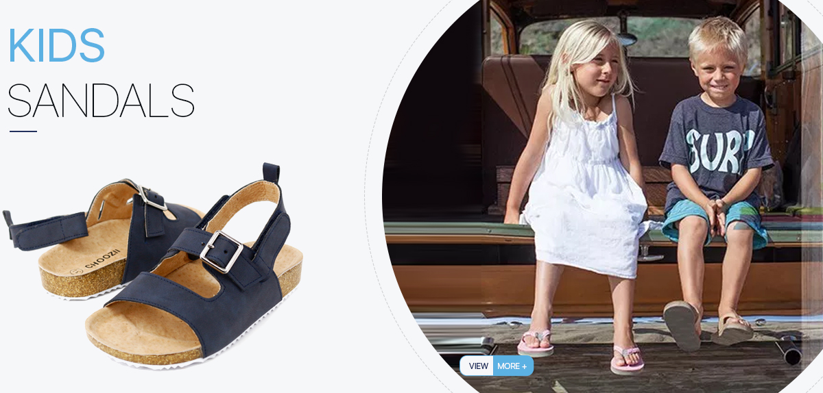 6bf2a361260504 Guangzhou Import Custom Logo Kids Summer Beach Comfy Sandals Genuine Leather  Unisex Stylish Kids Boys Cork Sandals from China