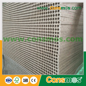 High strength door filling hollow core tubular particle board/hollow chipboard