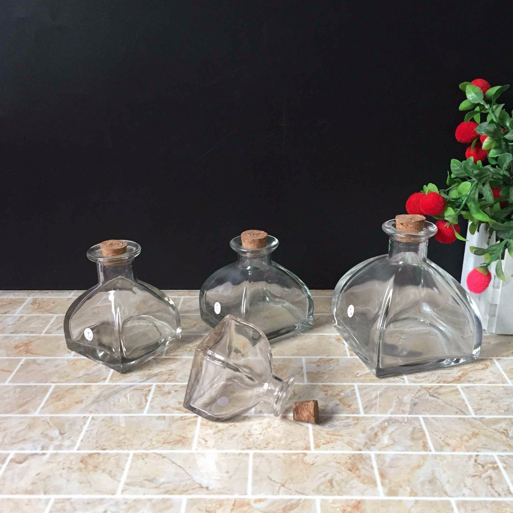 2 oz 4 oz 5 oz 8 oz clear Square Reed Diffuser Bottle Glass