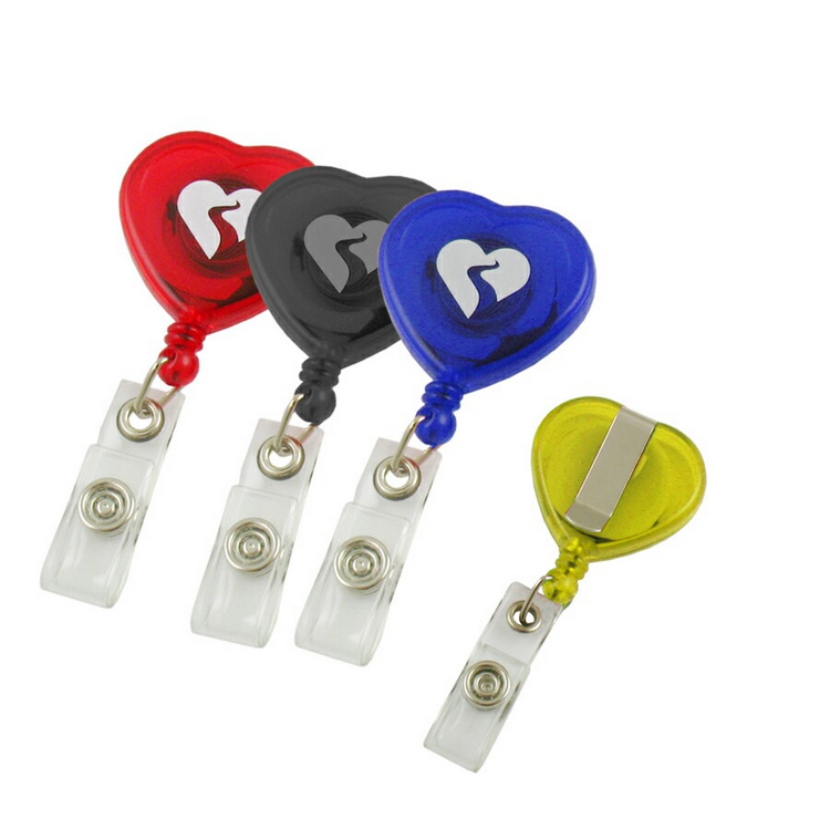 Neuheit Design Retractable Heart Badge Reel