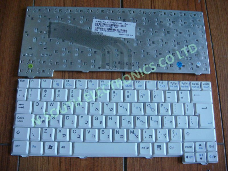 laptop keybpard for LG X110 white V070722AK1 HB layout Hebrew keyboard