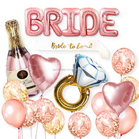 bride to be party sash decoration beer balloon party letter Rose Gold Large Helium Balloon Letters Celebration Balloon