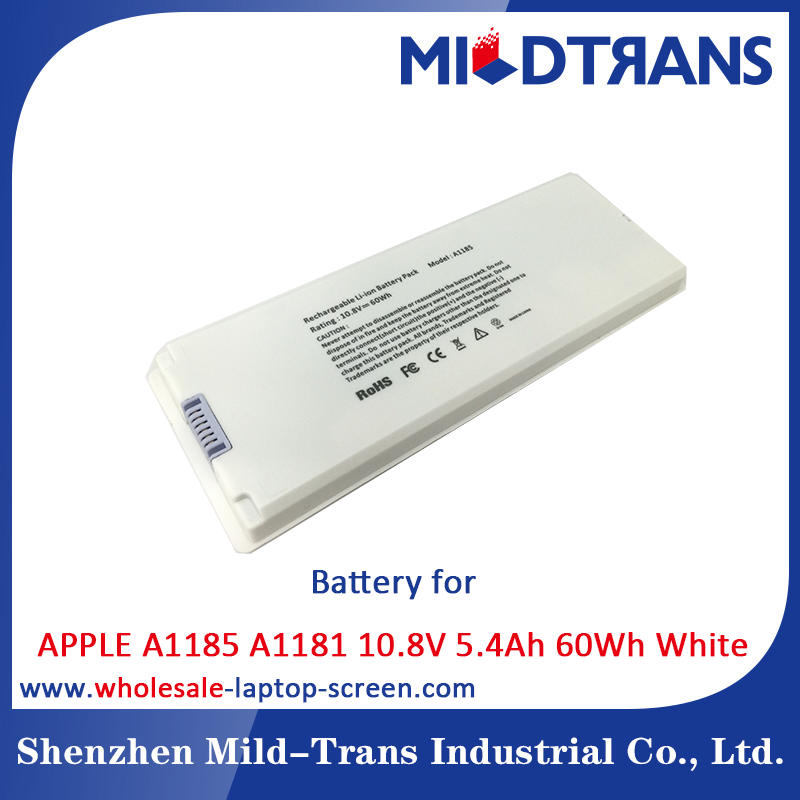 Compatible 10.8V 5.4Ah 60Wh Laptop Battery for APPLE A1185 A1181
