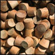 "WIDGETCO 5/16"" Mahogany Wood Plugs, End Grain"