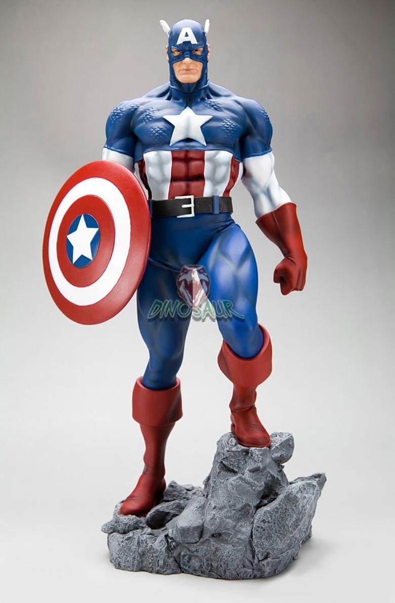 Vida Tamao De Dibujos Animados Estatua VidrioCapitn Amrica