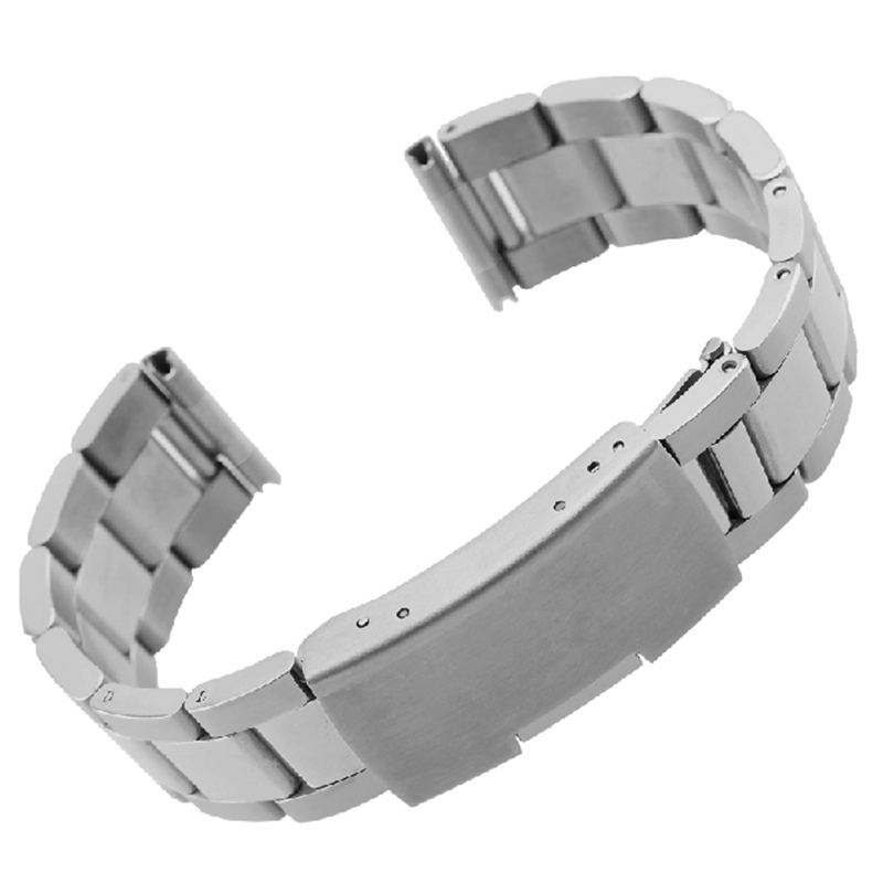 eef9e017bea Get Quotations · New Mens Watch band 16mm 18mm 20mm 22mm 24mm Silver  Stainless Steel Watch Band Strap Straight