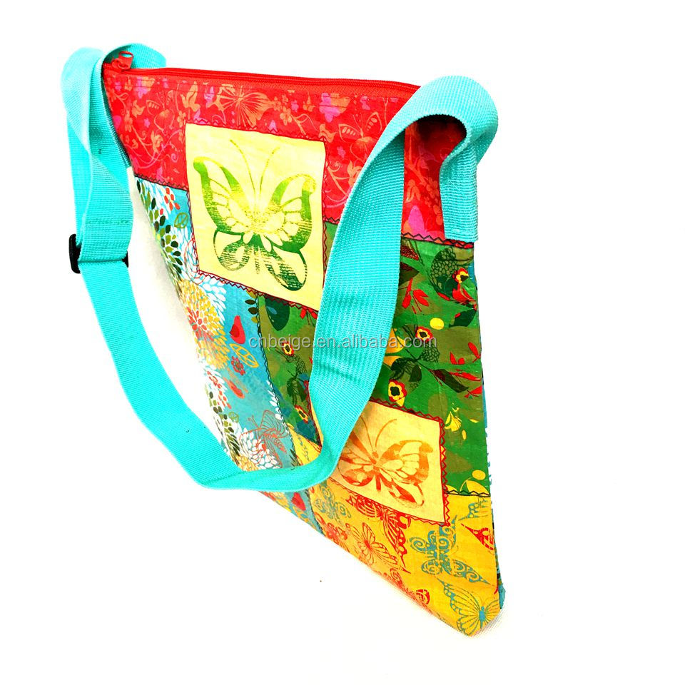 Extra large Recycled full color  laminated PP non woven tote bag for promotion