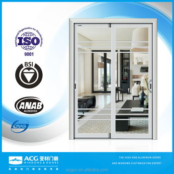 China Factory Horizontal Aluminium Sliding Door With Aluminum Frame ...