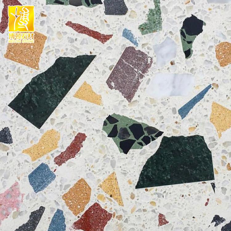 Colorful Artificial Stone Terrazzo Quartz Tiles For