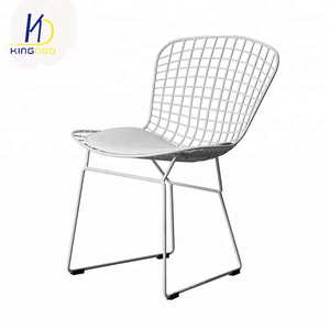 Wire Mesh Metal Iron Dining Chair Gold Wire Metal Dining Chair