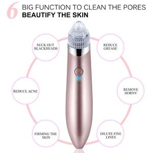 2018 Hot Wholesale professional portable USB mose acne remover machine electric cleaning antiaging facial machine