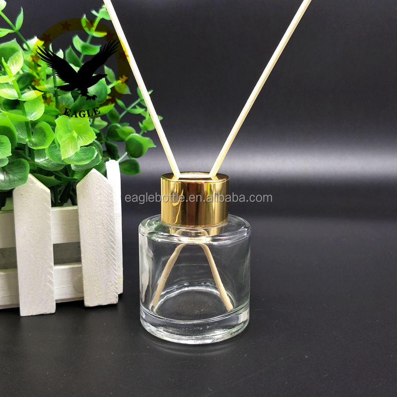 Factory supply 90ml high quality classic glass aroma diffuser bottles with cap