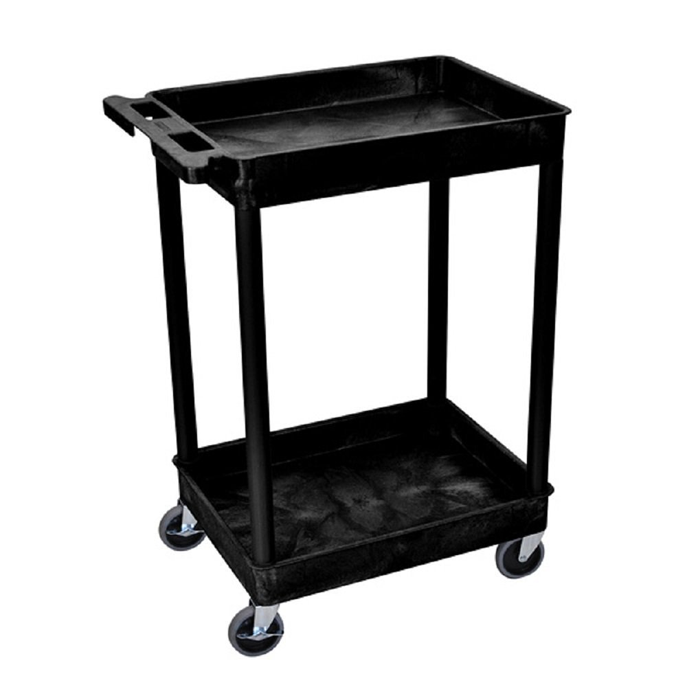 Rolling Utility Cart Wheels 2 Shelf Office Home Furniture Indoor Kitchen  Room Garage Laundry Outdoor Shelves