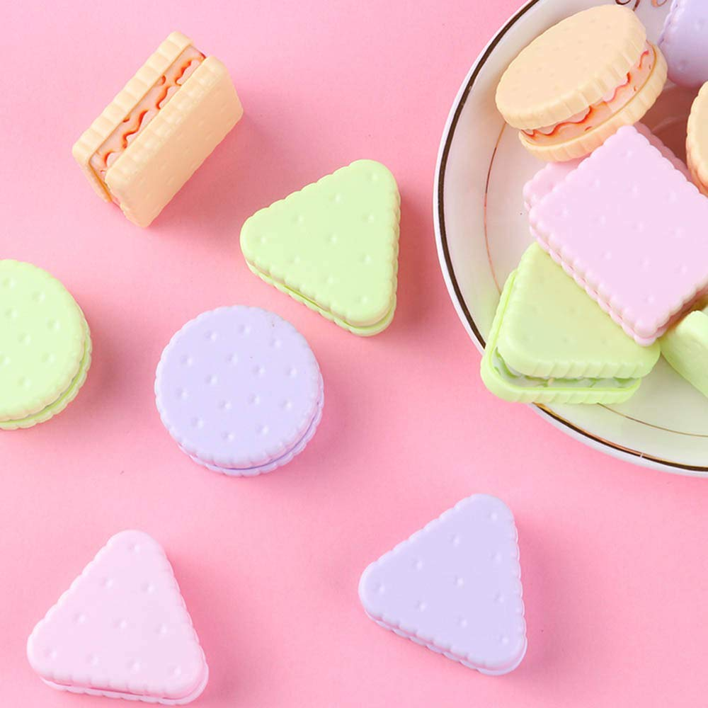 Mustwell 4Pcs/lot Cute Cookie Sharpener Schoolboy Pencil Sharpener Creative Stationery Office School Supplies
