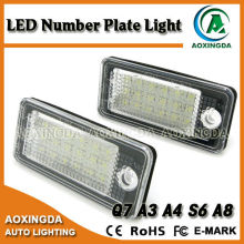No error code LED license plate light for AUDI Q7 TD1 2010 onwards