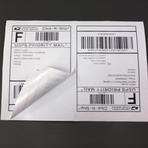 "Half sheet Self Adhesive Shipping labels A4 Sticker 2 per sheet size 5-1/2"" X 8-1/2"" usps label 5.5 x 8.5 inch"