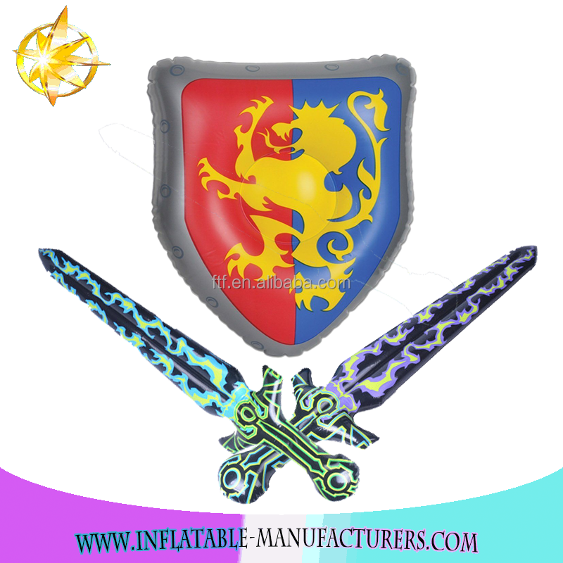 PVC indoor inflatable Sword And Shield Set kids soft toys For Sale