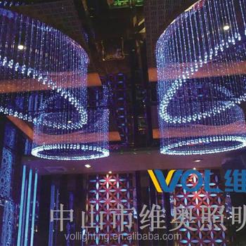 Modern Crystal Pendant Light For Hotel Lobby Or Club Vol