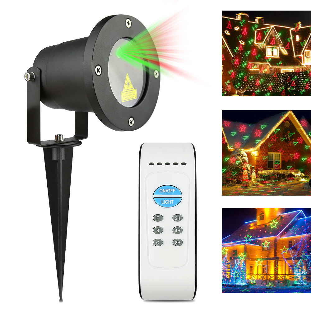 Aluminum Alloy Outdoor Laser Christmas