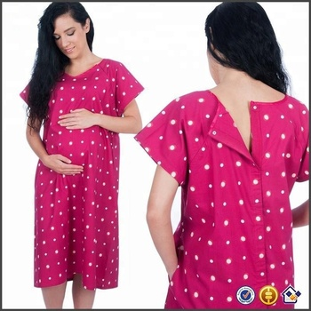 Pregnant Polka Wholesale Women Custom Hospital Maternity Delivery