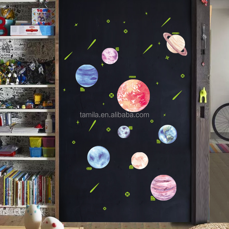 Nine Planets Luminous Stickers Children's Room Decoration Glowing in the Dark Stickers