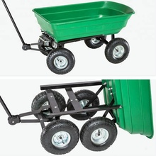 Dump Poly Wagon Winkelwagen Utility Zware Zwarte <span class=keywords><strong>Vuil</strong></span> Yard Tuin