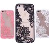 Luxury Retro Lace Lotus Flowers Reliefs Hard Plastic Phone Case For iPhone 5s 5 SE 6 6s Plus 7 7 plus