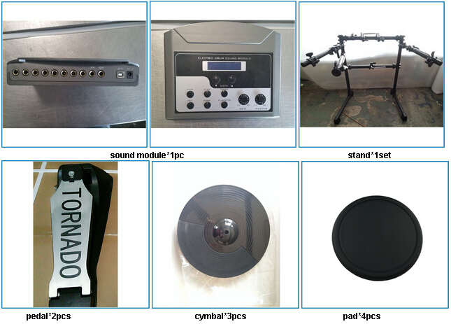 Silicone Head Junior Portable Digital Drum Set Beginner,E-drum Kit ...