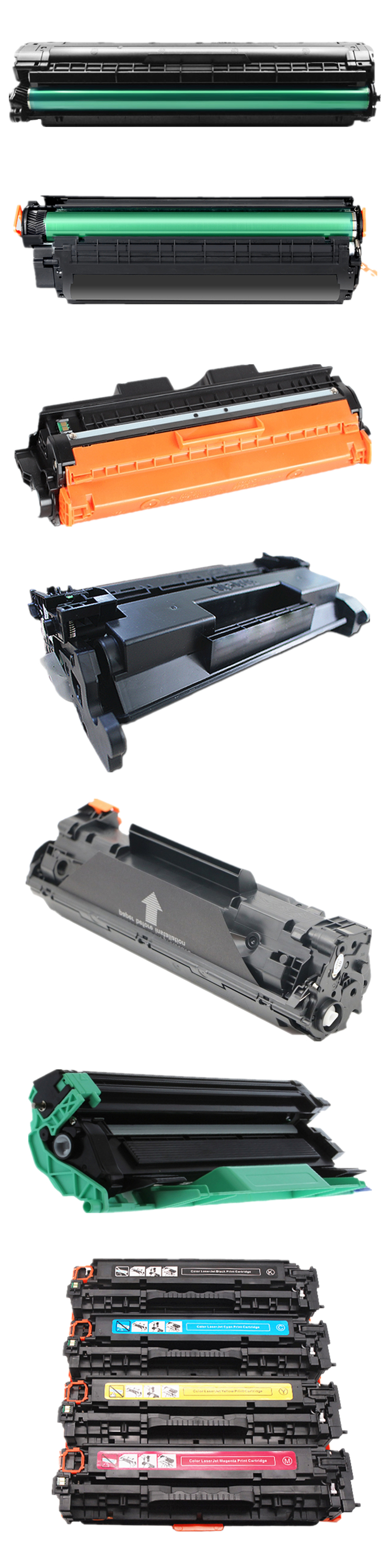 China Manufacturer Compatible Color LaserJet Printer Laser Ink Toner Cartridge Price 12A 85A CF287X 655A 105A 35A TN850 MX310