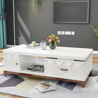 white coffee table with drawers high gloss classic center table