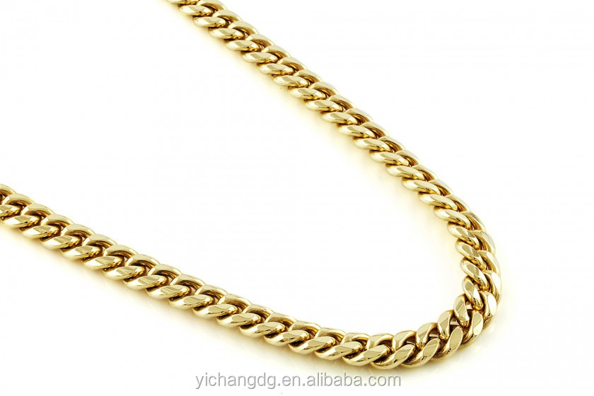 14k Gold 30 Quot L 11mmw Diamond Cuts Cuban Link Chain Buy