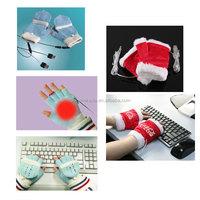 Leadfar USB Hand Warmer Glove battery heated thin gloves super fabrics winter women gloves