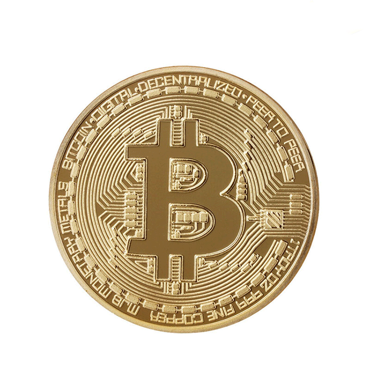 Shuanghua wholesale cheap promotional stamping gold bitcoin style make your own metal coins