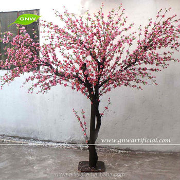 Slim Trunk Artificial Cherry Blossom Trees For Pink Color Room Decoration