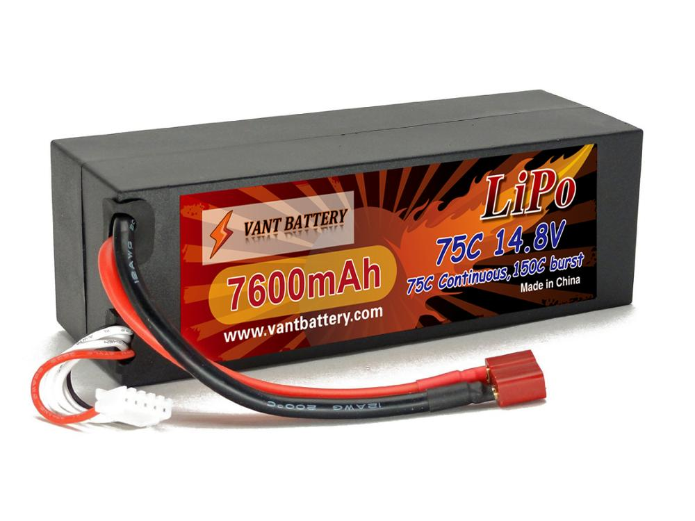 RC Lithium polymer battery 14.8V 7600mAh 75C 4S2P HIGH POWER HardCase for 1/10 scale cars
