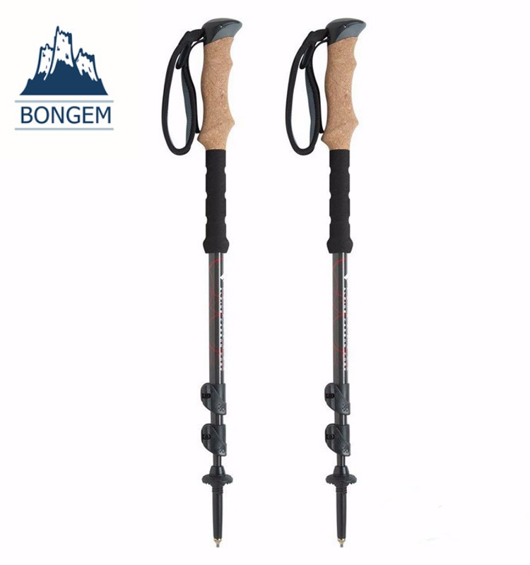 Hot selling outdoor camping telescopic carbon fiber trekking pole