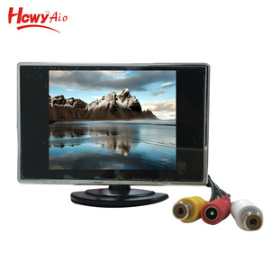 Motorized LCD Car Monitor 3.5 inch Security Car Pillow TFT LCD Monitor
