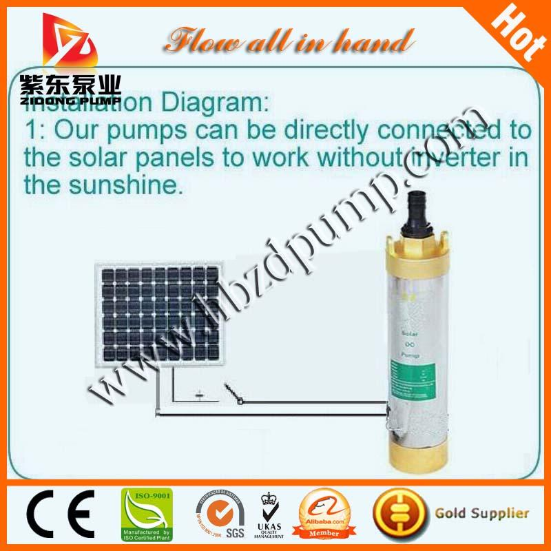 DC submersible solar deep well pump