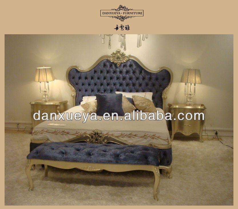 Hot Sales Wooden Beds Royal Furniture Antique Gold Bedroom Sets