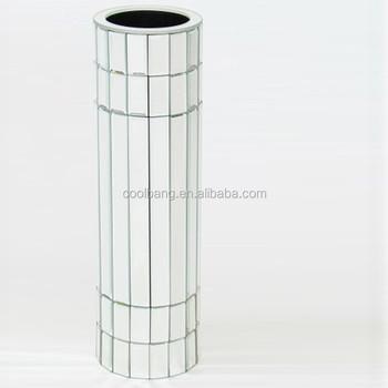 Customsized Vase Suppliers Large Floor Silver Mirror Mosaic Vases